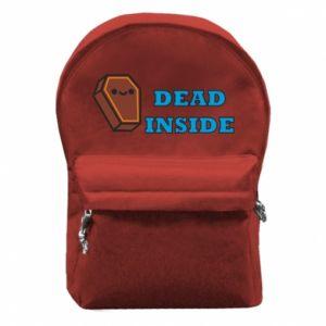 Backpack with front pocket Dead inside coffin