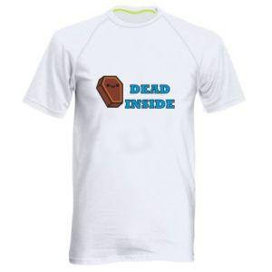 Men's sports t-shirt Dead inside coffin