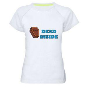 Women's sports t-shirt Dead inside coffin