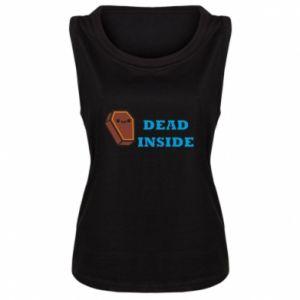 Damska koszulka bez rękawów Dead inside coffin