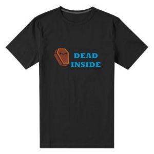 Męska premium koszulka Dead inside coffin