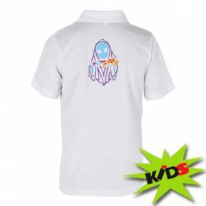 Dziecięca koszulka polo Death with pizza
