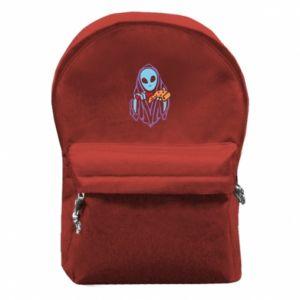 Plecak z przednią kieszenią Death with pizza
