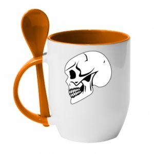 Kubek z ceramiczną łyżeczką death
