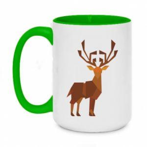 Kubek dwukolorowy 450ml Deer abstraction