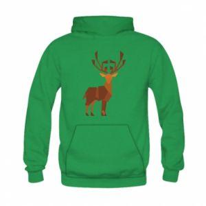 Bluza z kapturem dziecięca Deer abstraction