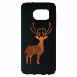Etui na Samsung S7 EDGE Deer abstraction