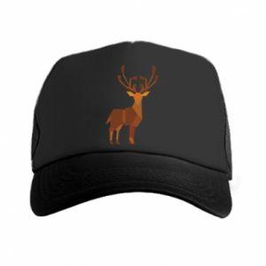 Trucker hat Deer abstraction - PrintSalon