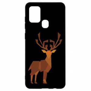 Etui na Samsung A21s Deer abstraction