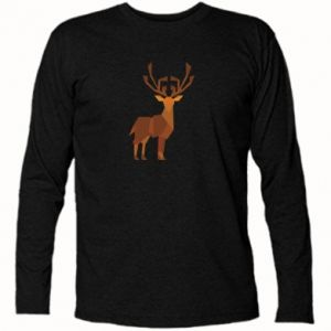 Long Sleeve T-shirt Deer abstraction - PrintSalon
