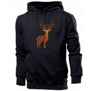 Men's hoodie Deer abstraction - PrintSalon