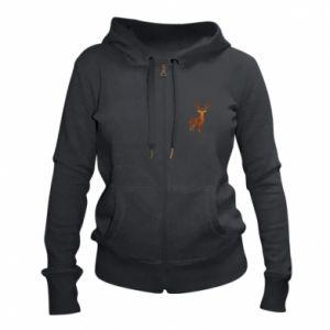 Women's zip up hoodies Deer abstraction - PrintSalon