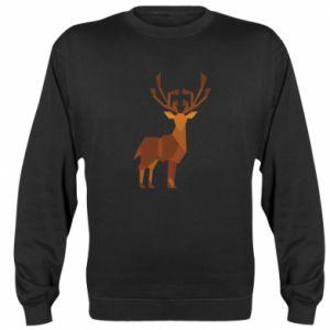 Sweatshirt Deer abstraction - PrintSalon