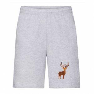 Men's shorts Deer abstraction - PrintSalon