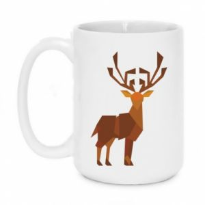 Mug 450ml Deer abstraction - PrintSalon