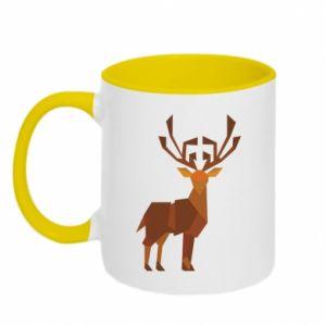 Two-toned mug Deer abstraction - PrintSalon