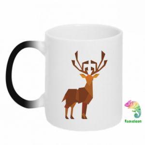 Chameleon mugs Deer abstraction - PrintSalon