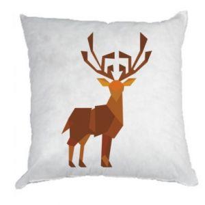 Pillow Deer abstraction - PrintSalon