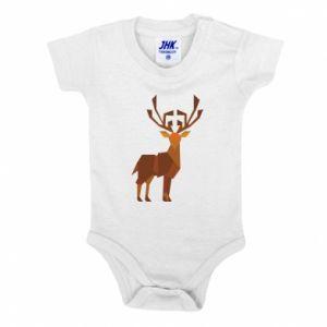 Baby bodysuit Deer abstraction - PrintSalon