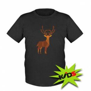Kids T-shirt Deer abstraction - PrintSalon