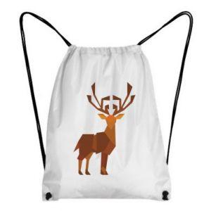 Backpack-bag Deer abstraction - PrintSalon