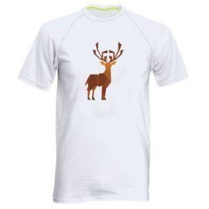 Men's sports t-shirt Deer abstraction - PrintSalon