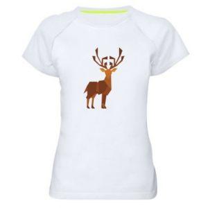 Women's sports t-shirt Deer abstraction - PrintSalon