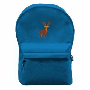 Backpack with front pocket Deer abstraction - PrintSalon
