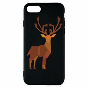 Phone case for iPhone 8 Deer abstraction - PrintSalon