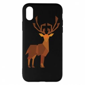 Phone case for iPhone X/Xs Deer abstraction - PrintSalon