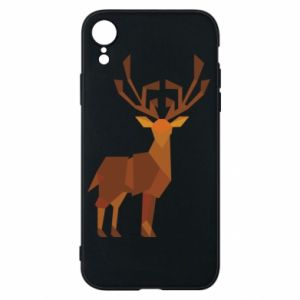 Phone case for iPhone XR Deer abstraction - PrintSalon