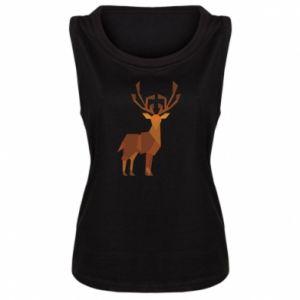 Women's t-shirt Deer abstraction - PrintSalon