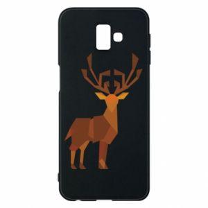 Phone case for Samsung J6 Plus 2018 Deer abstraction - PrintSalon