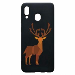 Phone case for Samsung A20 Deer abstraction - PrintSalon