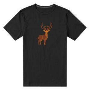 Men's premium t-shirt Deer abstraction - PrintSalon
