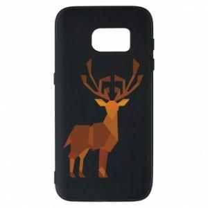 Phone case for Samsung S7 Deer abstraction - PrintSalon