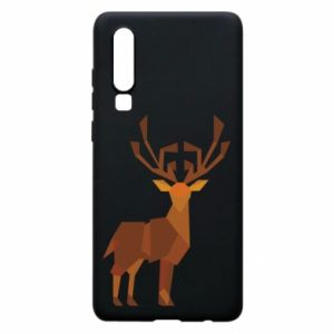 Phone case for Huawei P30 Deer abstraction - PrintSalon