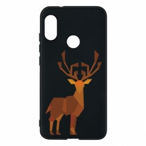 Phone case for Mi A2 Lite Deer abstraction - PrintSalon