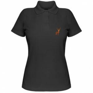 Women's Polo shirt Deer abstraction - PrintSalon
