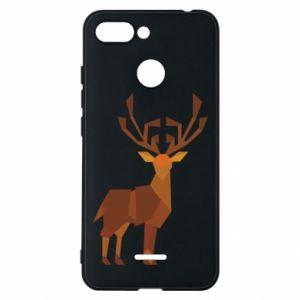 Phone case for Xiaomi Redmi 6 Deer abstraction - PrintSalon
