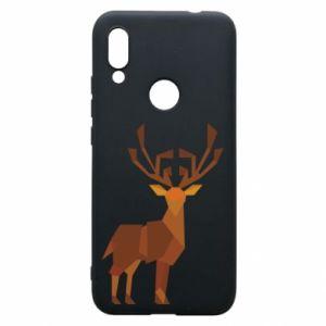 Phone case for Xiaomi Redmi 7 Deer abstraction - PrintSalon