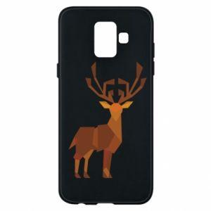 Phone case for Samsung A6 2018 Deer abstraction - PrintSalon