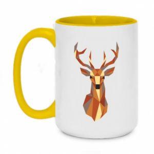 Kubek dwukolorowy 450ml Deer geometry in color