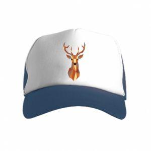 Czapka trucker dziecięca Deer geometry in color