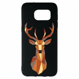 Etui na Samsung S7 EDGE Deer geometry in color