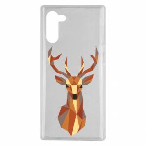 Etui na Samsung Note 10 Deer geometry in color