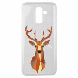 Etui na Samsung J8 2018 Deer geometry in color