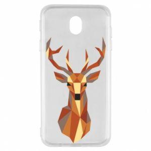 Etui na Samsung J7 2017 Deer geometry in color