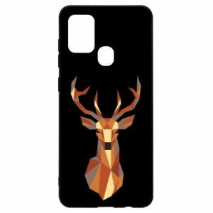 Etui na Samsung A21s Deer geometry in color