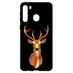 Etui na Samsung A21 Deer geometry in color